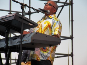 Lonnie Liston Smith at the 2013 Sunset Jazz Festival at Wiggins Park, Camden New Jersey waterfront, July 15, 2013.