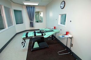 The Lethal Injection Room of San Quentin State Prison in California, built in 2010.