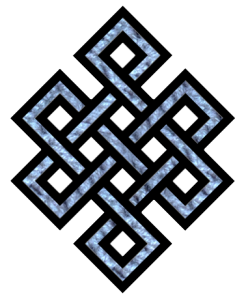 The Endless Knot, a symbol of karmic cause and effect