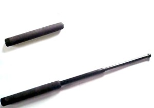 An expandable baton: the latest in law enforcement tech.  Simple to use and quite efficient when wielded properly.  Every American should have one.