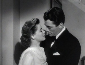 Dorothy McGuire and Gregory Peck in 1947's Gentleman's Agreement.  Spoiler Alert: McGuire's character had hinky issues.