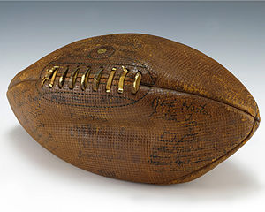 College football signed by Gerald Ford, eventual President of the US.