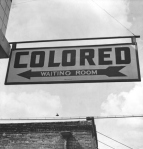 A 1943 Colored Waiting Room sign from Rome Georgia.