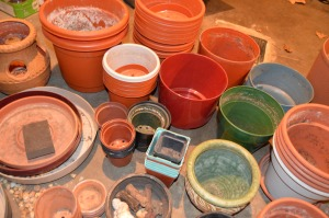 Avoid a work buildup by cleaning and disinfecting pots immediately after use